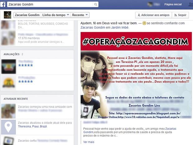 Arte Zacarias (Foto: Divulgação/Facebook)