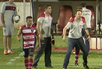 Moisés Egert, técnico, Linense, Copa Paulista (Foto: Reprodução / TV TEM)