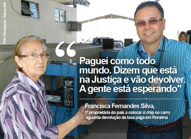 Siniav Francisca (Foto: Divulgação / Detran-RR)
