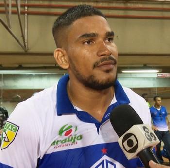 Diego, zagueiro Atlético-AC (Foto: Reprodução/Rede Amazônica Acre)