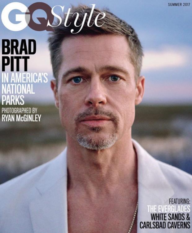 Brad Pitt é capa da GQ Style (Foto: Reprodução/Instagram)