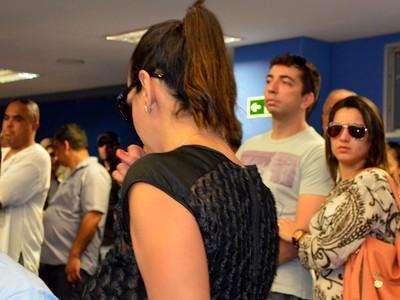 Virna chorou ao comentar sobre morte do narrador Luciano do Valle (Foto: Fernando Pacífico / G1 Campinas)