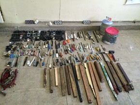 Materiais foram apreendidos na Penitenciária Juiz Plácido de Souza (Foto: Divulgação/Polícia Militar)