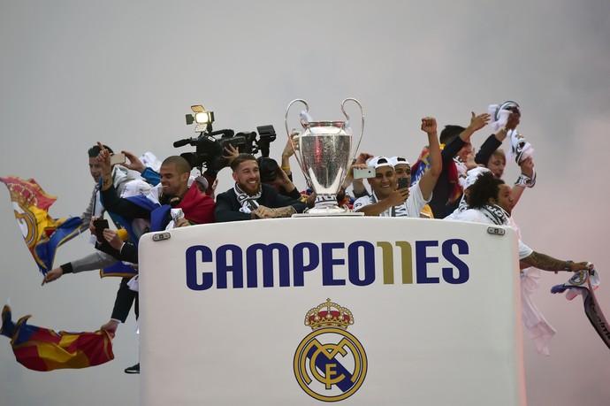 Real Madrid Liga dos Campeões taça (Foto: AFP)