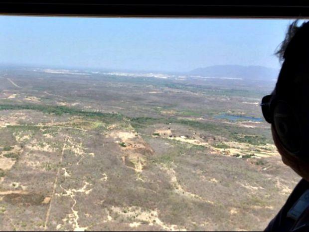 Secretaria de Aviação Civil estuda topografia da região para definir porte do aeroporto (Foto: SAC/Divulgação)
