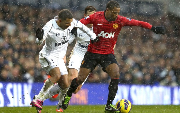 Evra, Manchester United e Tottham (Foto: Getty Images)