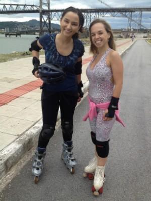 Soninha aderiu ao patins (Foto: Mateus Castro/RBS TV)