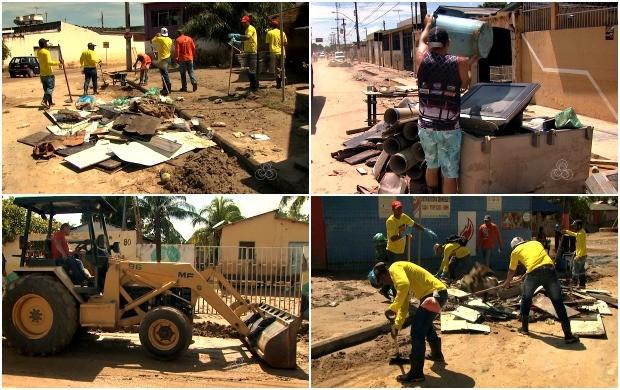 Capital acreana faz mutirão de limpeza  (Foto: Bom Dia Amazônia)