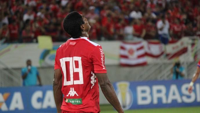 Max - atacante do América-RN - América-RN x Fortaleza - Arena das Dunas (Foto: Diego Simonetti/Blog do Major)