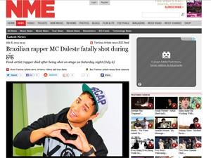 Revista 'NME' fala de morte de Daleste em site (Foto: Reprodução / Nme.com)