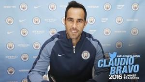 Claudio Bravo Manchester City (Foto: Divulgação)