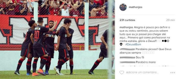 Matheus Anjos Atlético-PR (Foto: Reprodução/ Instagram)