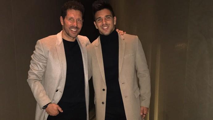 Diego Simeone e seu filho, Giovanni (Foto: Reprodução/Instagram)