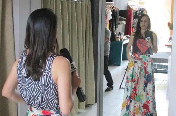 """Estampas diferentes em um mesmo """"look"""" podem ser sinônimo de elegância.  (Foto: André Santos/TV Clube)"""