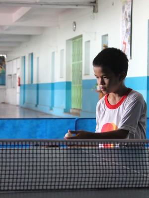 Júlio César tem 13 anos e já pensa em Olimpíadas (Foto: Larissa Vieira/GLOBOESPORTE.COM)