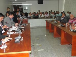 Audiência Pública na Assembleia Legislativa do Tocantins debateu mortandade de peixes (Foto: Divulgação/Ascom Dep Marcelo Lelis)