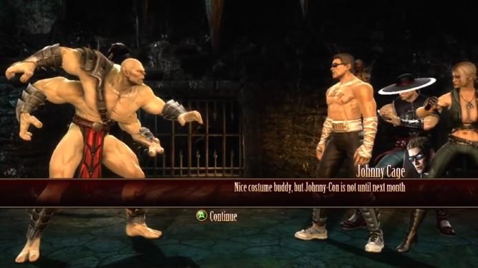 Como Goro você terá que enfrentar 5 oponentes em sequência (Foto: Reprodução/YouTube)