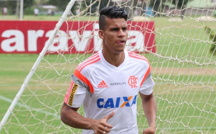 Thallyson, treino do Flamengo (Foto: Gilvan de Souza / Site do Flamengo)