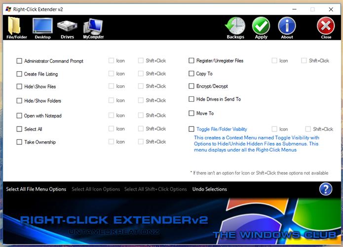 Right Click Extender possibilita a inclusão de novos atalhos no menu de contexto (Foto: Reprodução/Filipe Garrett)