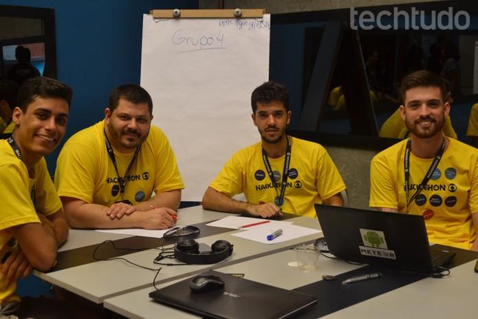 Grupo 4 - Hackathon Globo (Foto: Isabela Giantomaso / TechTudo)