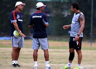 Alexandre Mendes, Renato Gaúcho e Fred treino Fluminense (Foto: Nelson Perez / Flickr do Fluminense)