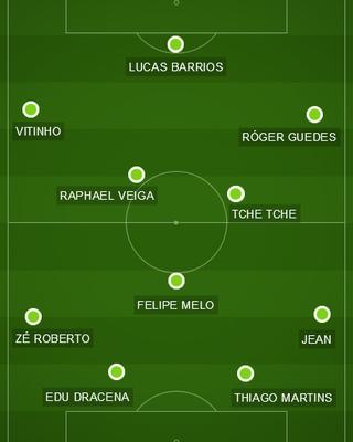 b98506b7f6 Eduardo Baptista repete formação em treino tático do Palmeiras  veja o time