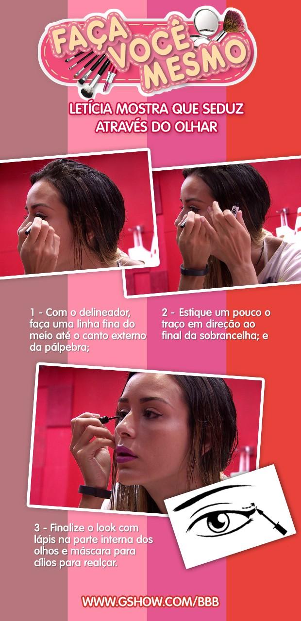 Maquiagem: copie o olho de gata da Letícia