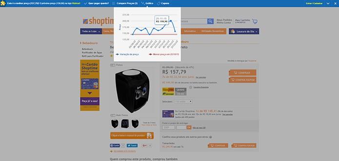 Preço anunciado como anterior à oferta, não era verdadeiro (Foto: Reprodução/Thiago Barros)