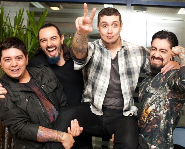 Banda Malta dia da primeira audição (Foto: Dafne Bastos / TV Globo)