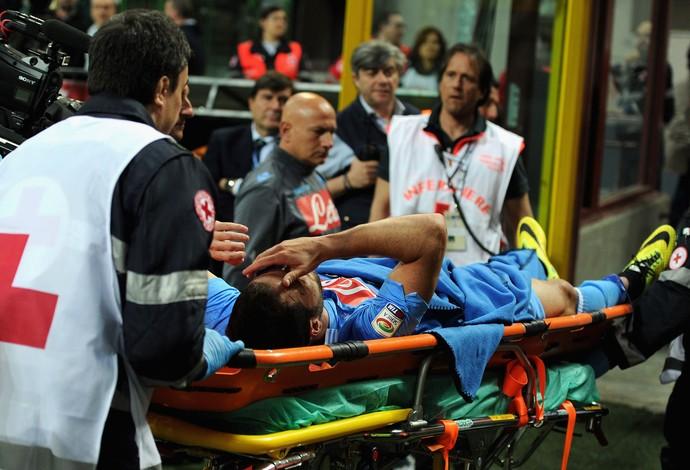 Higuaín machucado, Internazionale x Napoli (Foto: Getty Images)