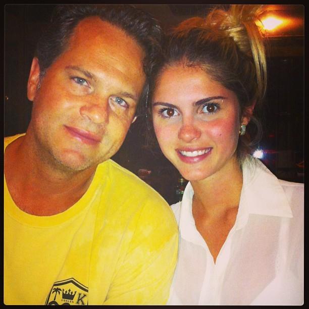 Bárbara Evans com o pai (Foto: Instagram/ Reprodução)