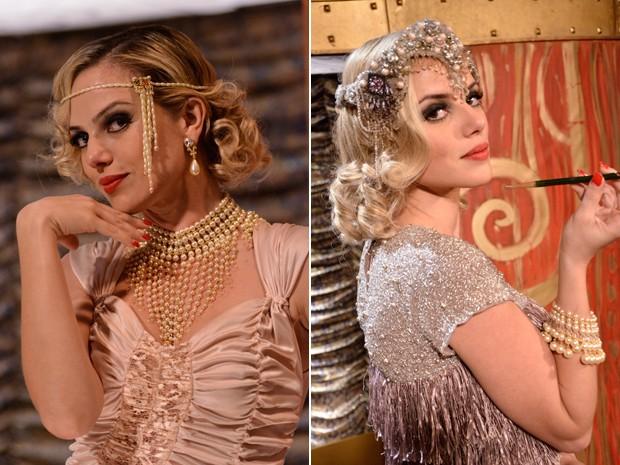 A atriz durante as gravações de Gabriela (Foto: Raphael Dias / TV Globo)