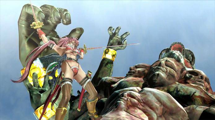 Os gráficos de Onechanbara Z2: Chaos realmente não impressionam (Foto: Reprodução/Hardcore Gamer)