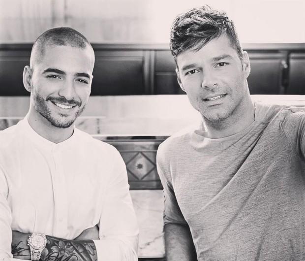 Maluma com Ricky Martin (Foto: Reprodução/Instagram)