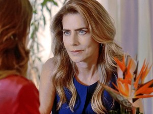 A ex-miss surpreende ao confessar grande mentira (Foto: TV Globo)