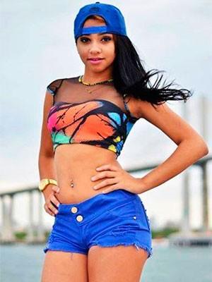 Tainá Costa sonha em ser dançarina de funk (Foto: Tainá Costa/Arquivo pessoal)