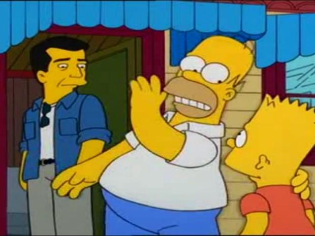 Mel Gibson em 'Os Simpsons' (Foto: Divulgação)