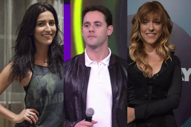 Maria Joana, Thiago Pereira e Júlia Rabello (Foto: Reprodução e TV Globo)