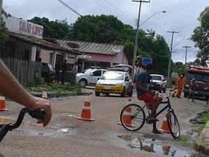 Polícia no local do crime (Foto: Divulgação)