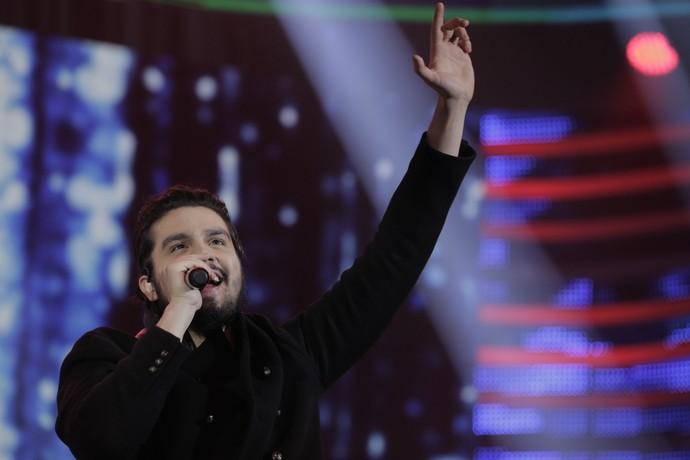 Luan levantou a plateia do 'Domingão do Faustão' (Foto: Inácio de Moraes)