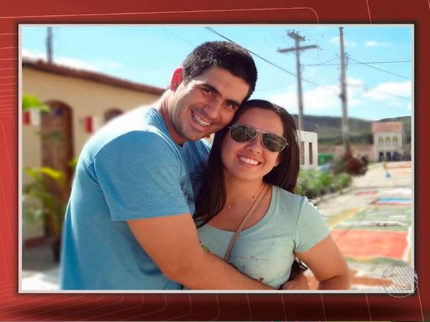 Casal noivos Bahia (Foto: Reprodução /TV Bahia)