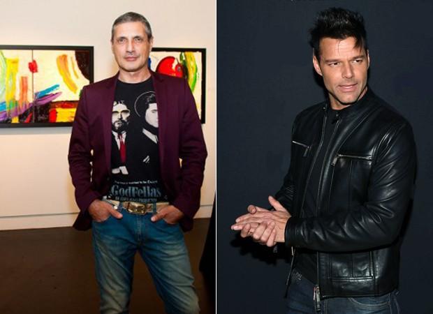 Antonio D'Amico e Ricky Martin (Foto: Divulgação/ Getty Images)