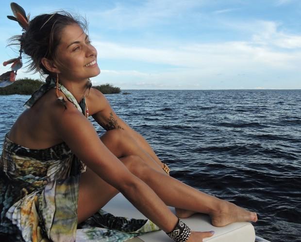 Bruna Salvatori mostra belezas do Amazonas (Foto: Arquivo Pessoal)