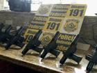 PRF descobre sete pistolas dentro  de televisores em ônibus no Paraná