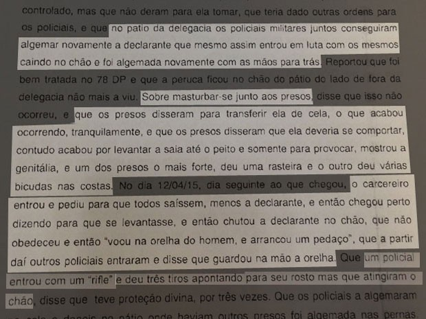 Documento da Corregedoria da Polícia Civil (Foto: Reprodução / Polícia Civil)