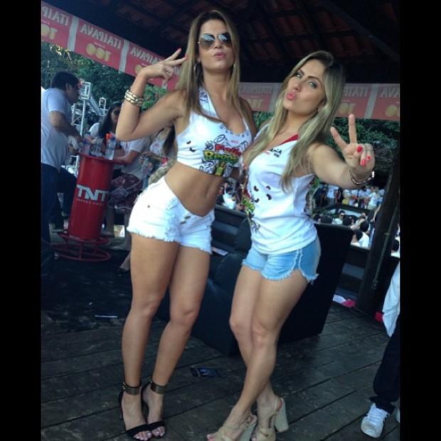 Renatinha e Cacau na Feijo Reggae, em Tangara da Serra (Foto: Reprodução/Instagram)