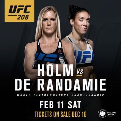 UFC 208; Holly Holm; Germaine De Randaime (Foto: Divulgação)