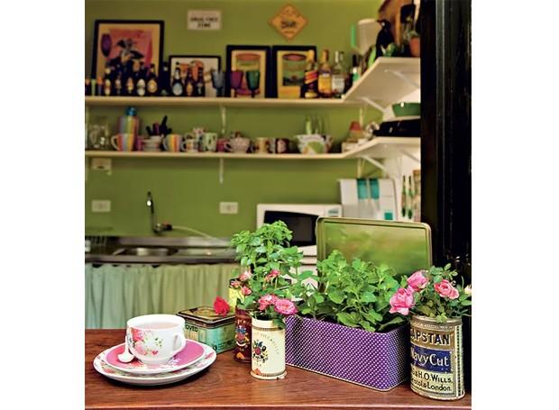 horta-cultivada-dentro-de-casa-latas (Foto: Edu Castello/Editora Globo)