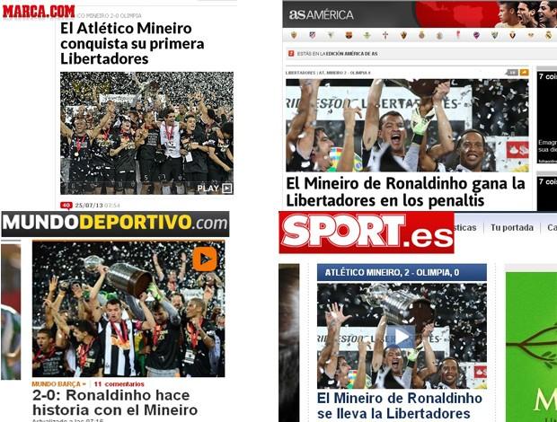 atletico-mg libertadores repercussão (Foto: Reprodução)