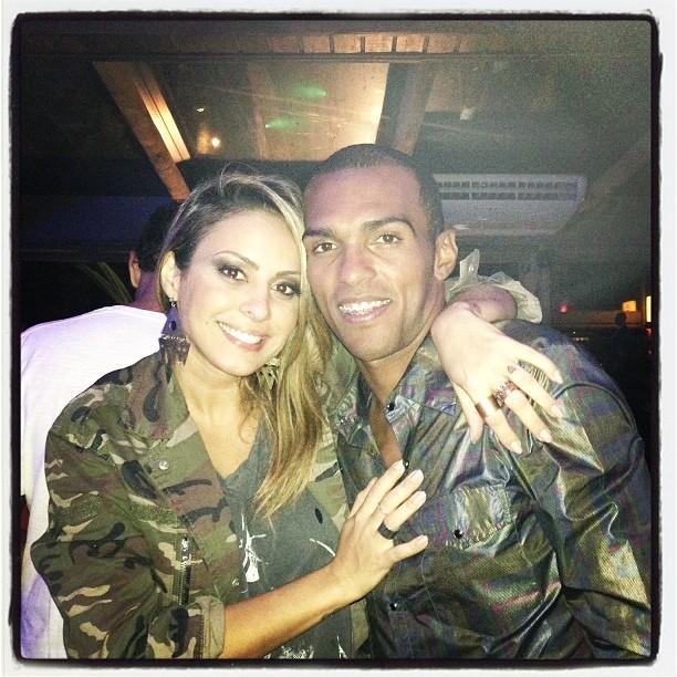 Alinne Rosa e o jogador Richarlyson em Belo Horizonte, Minas Gerais (Foto: Instagram/ Reprodução)